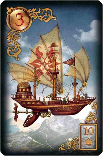 Lenormand Gilded Reverie Karte 03 – Schiff: Träume und Sehnsüchte