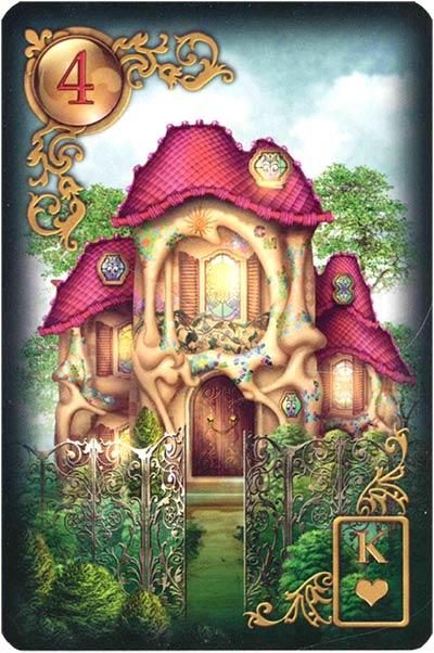 Lenormand Gilded Reverie Karte 04 – Haus: Familie und Stabilität