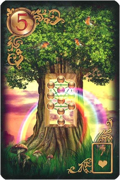 Lenormand Gilded Reverie Karte 05 – Baum: Gesundheit