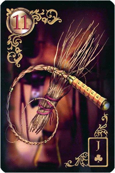 Lenormand Gilded Reverie Karte 11 – Ruten: Streit