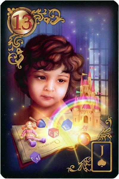 Lenormand Gilded Reverie Karte 13 – Kind: Neuanfang