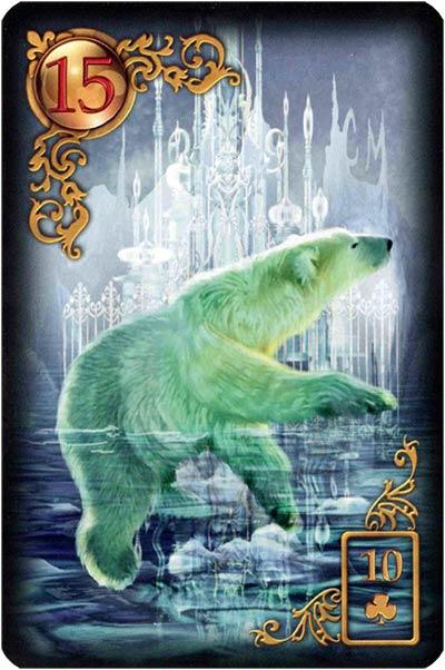 Lenormand Gilded Reverie Karte 15 – Bär: Stärke und Macht