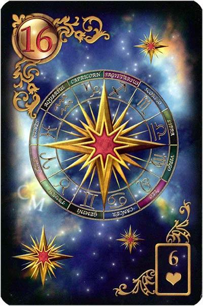 Lenormand Gilded Reverie Karte 16 – Sterne: Klarheit und Spiritualität