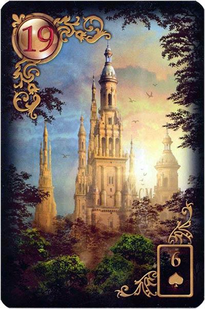 Lenormand Gilded Reverie Karte 19 – Turm: Trennung und Isolation