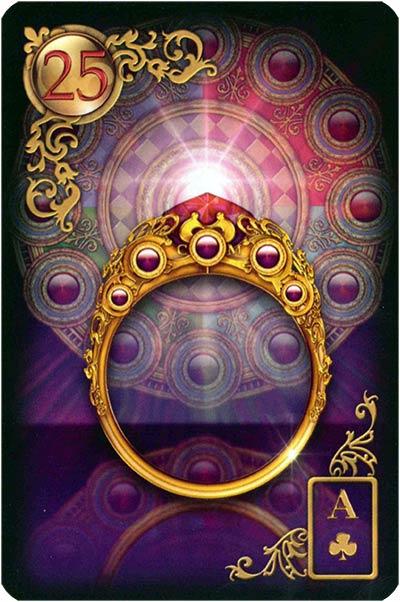 Lenormand Gilded Reverie Karte 25 – Ring: Beziehungen und Verträge