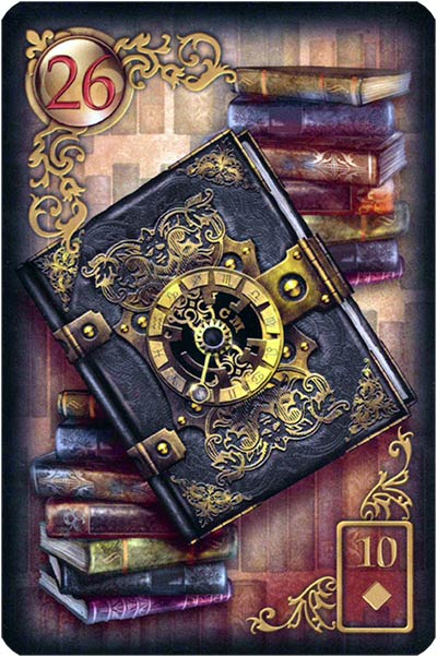 Lenormand Gilded Reverie Karte 26 – Buch: Geheimnisse und Lehre
