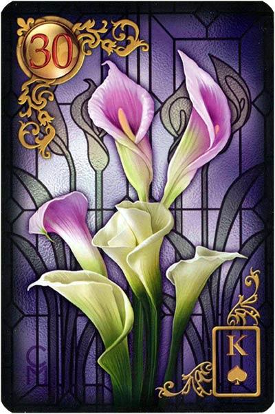 Lenormand Gilded Reverie Karte 30 – Lilien: Sexualität