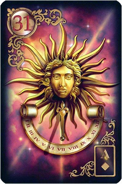 Lenormand Gilded Reverie Karte 31 – Sonne: Großes Glück