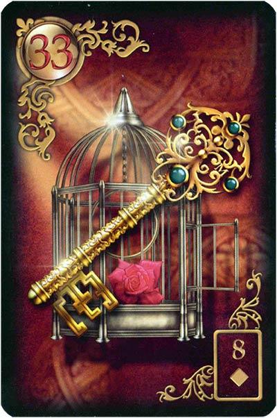 Lenormand Gilded Reverie Karte 33 – Schlüssel: Erfolg und Sicherheit
