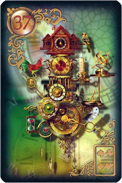 Lenormand Gilded Reverie Karte 37. – Zeit