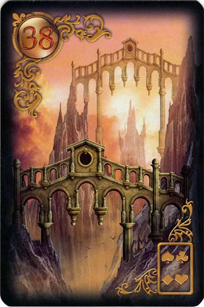 Lenormand Gilded Reverie Karte 38. – Brücke