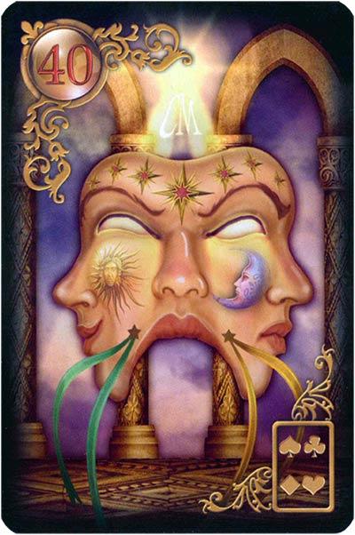 Lenormand Gilded Reverie Karte 40. – Maske