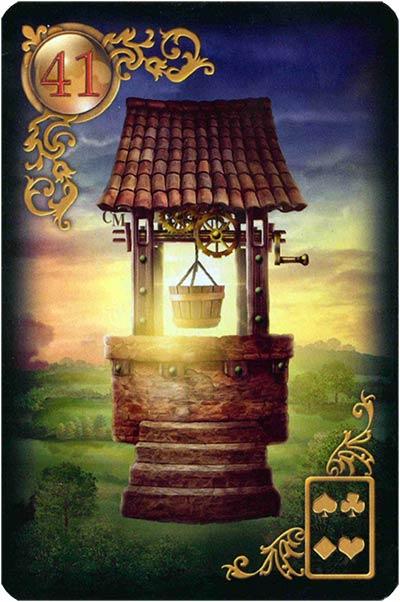 Lenormand Gilded Reverie Karte 41. – Brunnen