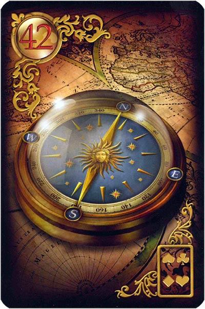 Lenormand Gilded Reverie Karte 42. – Kompass