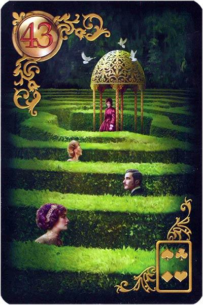 Lenormand Gilded Reverie Karte 43. – Labyrinth