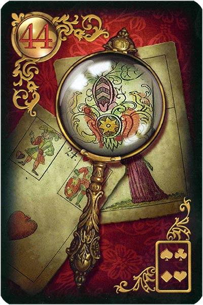 Lenormand Gilded Reverie Karte 44. – Vergrößerungsglas